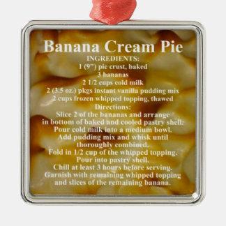 Banana Cream Pie Recipe Silver-Colored Square Decoration