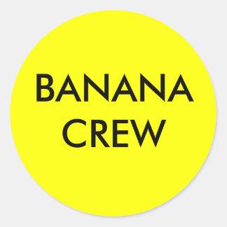BANANA CREW CLASSIC ROUND STICKER