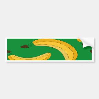 Banana fruit pattern bumper sticker