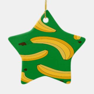 Banana fruit pattern christmas ornament