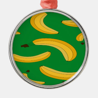 Banana fruit pattern christmas ornament