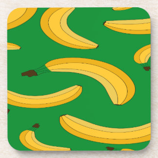 Banana fruit pattern coaster