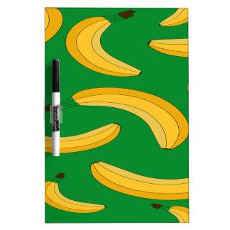 Banana fruit pattern dry erase whiteboards