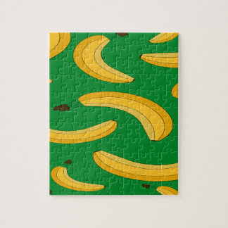 Banana fruit pattern jigsaw puzzle