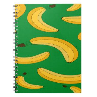 Banana fruit pattern note books