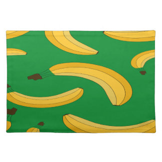 Banana fruit pattern placemat
