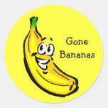 Banana Guy Gone Bananas Classic Round Sticker