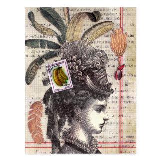 Banana Lady Postcard