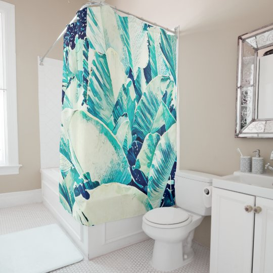Banana Leaf Crush Shower Cutain Shower Curtain