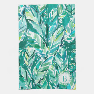 BANANA LEAF JUNGLE Green Tropical Tea Towel