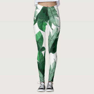 Banana Leaf Print Leggings 2