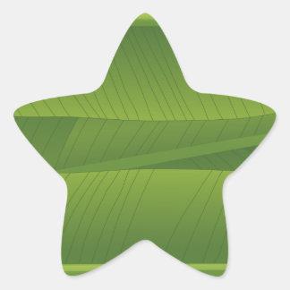 banana leaf star sticker