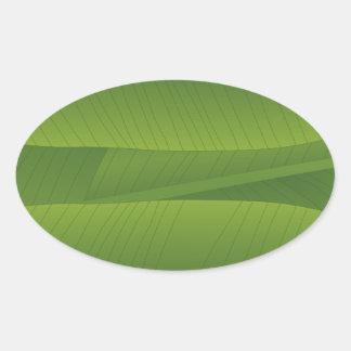 banana leaf oval sticker
