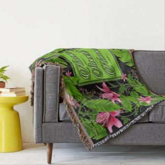 Banana Leaf Tropical Home Decor Throw Blanket
