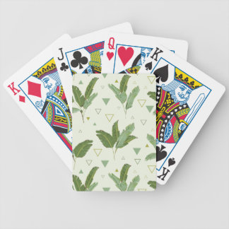 Banana Leaf With Triangles Bicycle Playing Cards