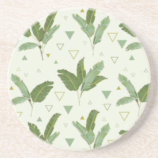 Banana Leaf With Triangles Coaster