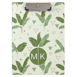Banana Leaf With Triangles | Monogram Clipboard