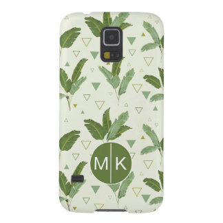 Banana Leaf With Triangles | Monogram Galaxy S5 Cover