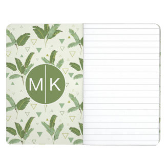 Banana Leaf With Triangles | Monogram Journals