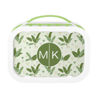 Banana Leaf With Triangles | Monogram Lunch Box