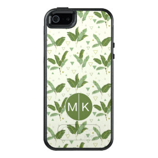 Banana Leaf With Triangles | Monogram OtterBox iPhone 5/5s/SE Case