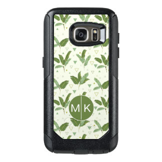 Banana Leaf With Triangles | Monogram OtterBox Samsung Galaxy S7 Case