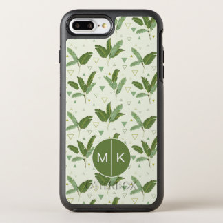 Banana Leaf With Triangles | Monogram OtterBox Symmetry iPhone 8 Plus/7 Plus Case