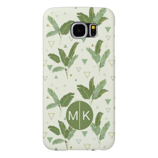 Banana Leaf With Triangles | Monogram Samsung Galaxy S6 Cases
