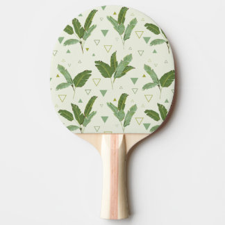 Banana Leaf With Triangles Ping Pong Paddle
