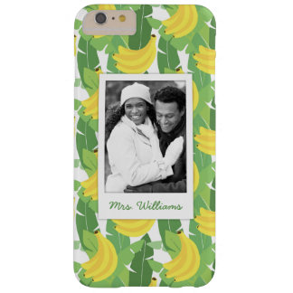 Banana Leaves | Add Your Photo & Name Barely There iPhone 6 Plus Case