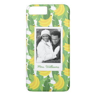 Banana Leaves | Add Your Photo & Name iPhone 8 Plus/7 Plus Case