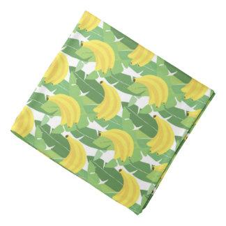Banana Leaves And Fruit Pattern Bandana