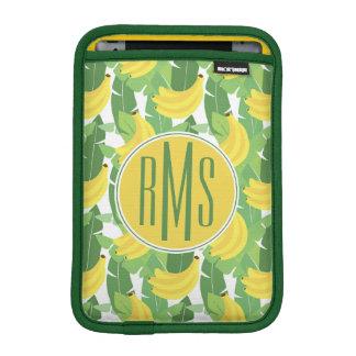 Banana Leaves And Fruit Pattern | Monogram iPad Mini Sleeve