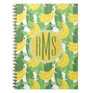Banana Leaves And Fruit Pattern | Monogram Notebooks