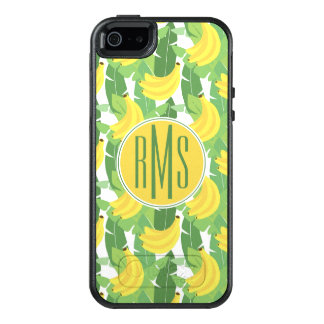Banana Leaves And Fruit Pattern | Monogram OtterBox iPhone 5/5s/SE Case
