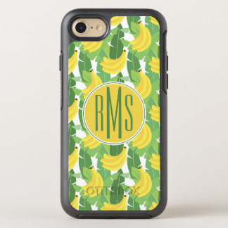 Banana Leaves And Fruit Pattern | Monogram OtterBox Symmetry iPhone 8/7 Case