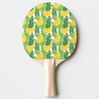 Banana Leaves And Fruit Pattern Ping Pong Paddle