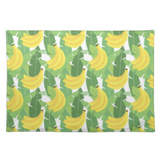 Banana Leaves And Fruit Pattern Placemat