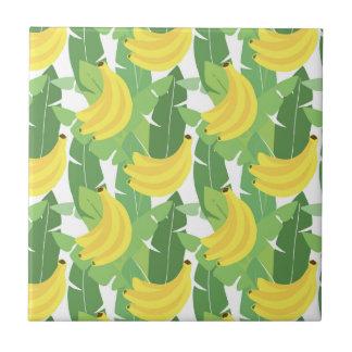 Banana Leaves And Fruit Pattern Tile