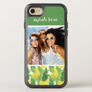 Banana Leaves & Fruit | Add Your Photo & Name OtterBox Symmetry iPhone 8/7 Case