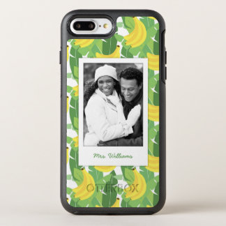 Banana Leaves & Fruit | Add Your Photo & Name OtterBox Symmetry iPhone 8 Plus/7 Plus Case