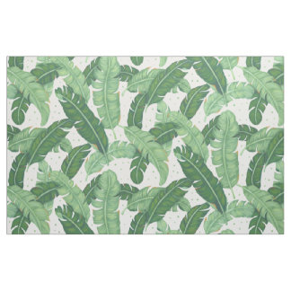 Banana Leaves Illustration Fabric