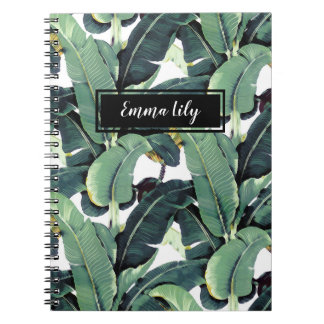 Banana Leaves Palm Tropical Spiral Notebook