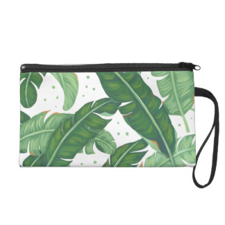 Banana Leaves Wristlet