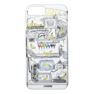 Banana Machine Iphone Case White