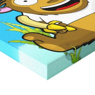 Banana Monkey Canvas Print