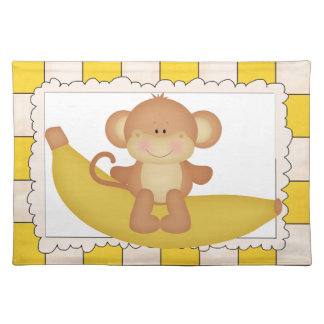 Banana Monkey cartoon place mat