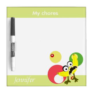 Banana Monster fruit illustration Dry Erase Boards