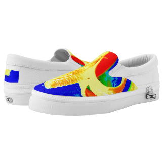 Banana on Blue Unisex slip on sneaker