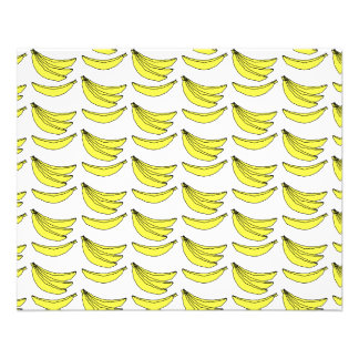 Banana Pattern. 11.5 Cm X 14 Cm Flyer